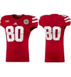 Nebraska Cornhuskers 80 Kenny Bell Red College Football NCAA Jersey