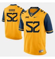 Men Najee Goode Gold West Virginia Mountaineers Alumni Football Game Jersey