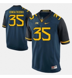 Men Nick Kwiatkoski Blue West Virginia Mountaineers Alumni Football Game Jersey