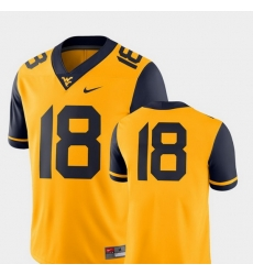 Men West Virginia Mountaineers Gold College Football 2018 Game Jersey