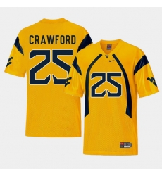 Men West Virginia Mountaineers Justin Crawford Gold College Football Alternate Jersey
