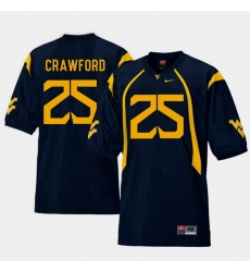 Men West Virginia Mountaineers Justin Crawford Navy College Football Home Jersey