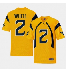 Men West Virginia Mountaineers Ka'Raun White Gold College Football Alternate Jersey