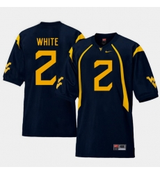 Men West Virginia Mountaineers Ka'Raun White Navy College Football Home Jersey