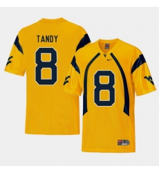 Men West Virginia Mountaineers Keith Tandy Gold College Football Alternate Jersey