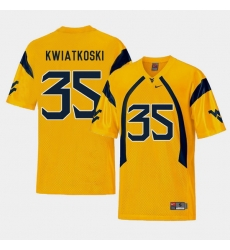 Men West Virginia Mountaineers Nick Kwiatkoski Gold College Football Alternate Jersey