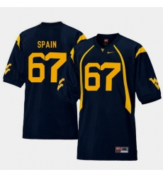 Men West Virginia Mountaineers Quinton Spain Navy College Football Home Jersey