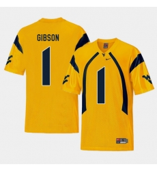 Men West Virginia Mountaineers Shelton Gibson Gold College Football Alternate Jersey