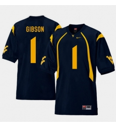 Men West Virginia Mountaineers Shelton Gibson Navy College Football Home Jersey