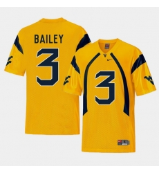 Men West Virginia Mountaineers Stedman Bailey Gold College Football Alternate Jersey