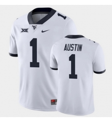 Men West Virginia Mountaineers Tavon Austin Game White College Football Jersey