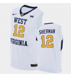 Men West Virginia Mountaineers Taz Sherman Home White Authentic Jersey