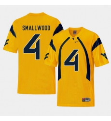 Men West Virginia Mountaineers Wendell Smallwood Gold College Football Alternate Jersey