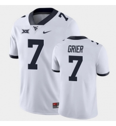 Men West Virginia Mountaineers Will Grier Game White College Football Jersey