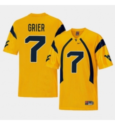 Men West Virginia Mountaineers Will Grier Gold College Football Alternate Jersey