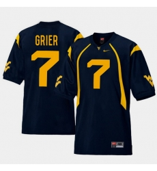 Men West Virginia Mountaineers Will Grier Navy College Football Home Jersey