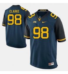Men Will Clarke Blue West Virginia Mountaineers Alumni Football Game Jersey