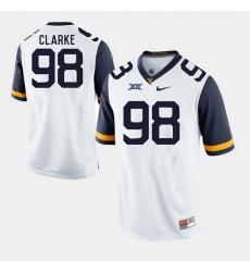 Men Will Clarke White West Virginia Mountaineers Alumni Football Game Jersey
