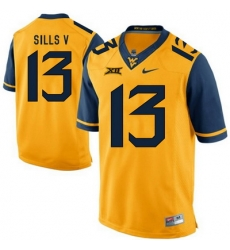 West Virginia Mountaineers David Sills V 13 Gold.jpg