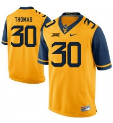 West Virginia Mountaineers J.T. Thomas 30 Gold.jpg