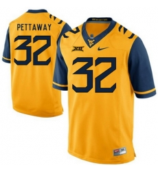 West Virginia Mountaineers Martell Pettaway 32 Gold.jpg