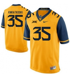 West Virginia Mountaineers Nick Kwiatkoski 35 Gold.jpg