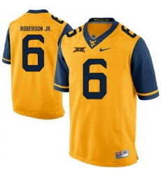 West Virginia Mountaineers Reggie Roberson Jr. 6 Gold.jpg