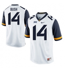 West Virginia Mountaineers Tevin Bush 14 White.jpg