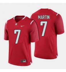 Men Rutgers Scarlet Knights Robert Martin College Football Red Jersey