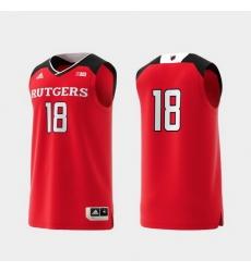 Men Rutgers Scarlet Knights Scarlet Basketball Swingman Adidas Replica Jersey