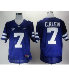 Kansas State Wildcats 7 Collin Klein Purple Big 12 Patch College Football NCAA Jerseys