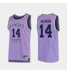 Men Kansas State Wildcats Makol Mawien Purple Replica College Basketball Jersey