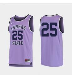 Men Kansas State Wildcats Purple Replica College Basketball Jersey