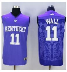 Wildcats #11 John Wall Blue Basketball Stitched NCAA Jersey