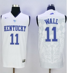 Wildcats #11 John Wall White Basketball Stitched NCAA Jersey