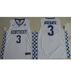 Wildcats #3 Edrice Adebayo White Basketball Elite Stitched NCAA Jersey