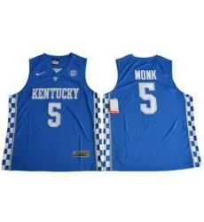 Wildcats #5 Malik Monk Royal Blue Basketball Elite Stitched NCAA Jersey