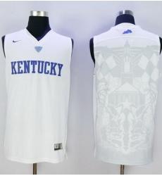 Wildcats Blank White Basketball Stitched NCAA Jersey