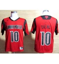 Louisville Cardinals 10 Gorgui Dieng Red College NCAA Jerseys