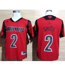 Louisville Cardinals 2 Russ Smith Red College NCAA Jerseys