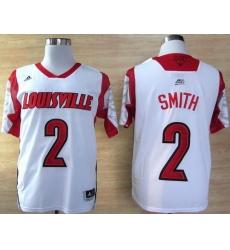 Louisville Cardinals 2 Russ Smith White College NCAA Jerseys