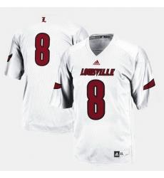 Louisville Cardinals College Football White Jersey