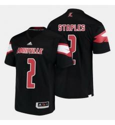 Louisville Cardinals Jamari Staples College Football Black Jersey