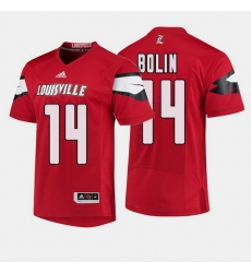 Louisville Cardinals Kyle Bolin College Football Red Jersey