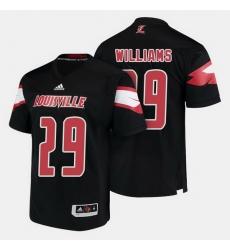 Louisville Cardinals Malik Williams College Football Black Jersey