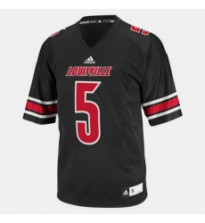 Louisville Cardinals Teddy Bridgewater College Football Black Jersey