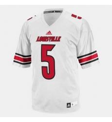Louisville Cardinals Teddy Bridgewater College Football White Jersey