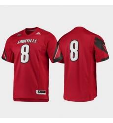 Men Louisville Cardinals 8 Red Premier Football Jersey