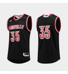 Men Louisville Cardinals Black Replica College Basketball Adidas Jersey