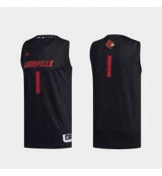 Men Louisville Cardinals Black Swingman Basketball Jersey